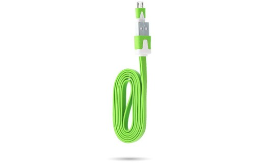 Aperçu 0: Cable Chargeur pour SAMSUNG Galaxy S5 USB / Micro USB Noodle Universelle NEW - VERT