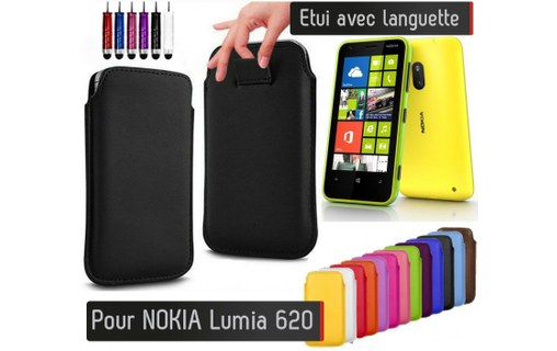 Aperçu 0: Etui Pull up Nokia Lumia 620 - ROSE PALE