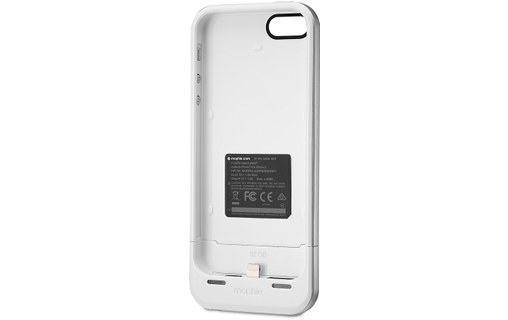 Aperçu 3: Mophie Space Pack 32 Go Blanc - Coque-batterie + stockage iPhone 5 / 5s / SE