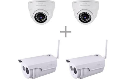 Aperçu 0: Pack Surveillance In & Out + Novodio - 2 x SmartCam HD Outdoor + 2 x HD Dome