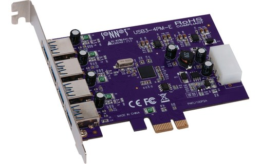 Aperçu 0: Carte Sonnet Allegro USB 3.0 PCIe Card 4 ports Mac/Win