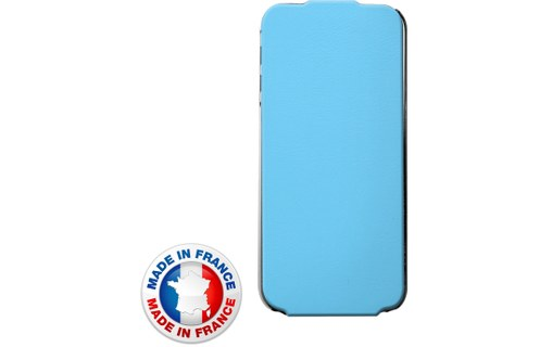 Aperçu 0: ETUICOXIP5MIFV2B Etui coque bleu pour iPhone 5s made in france