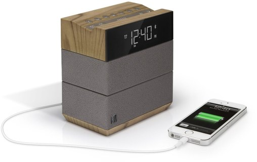 Aperçu 4: SoundFreaq Sound Rise Wood/Taupe - Radio réveil Bluetooth + USB
