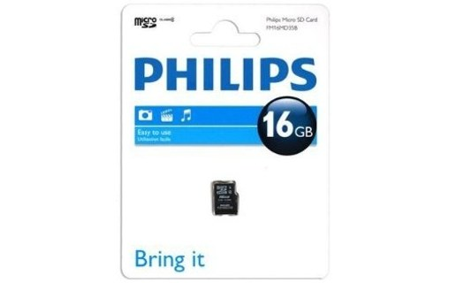 Aperçu 0: CARTE MEMOIRE PHILIPS FM16MD35B/10 SECURE DIGITAL HIGH-CAPACITY (SDHC)