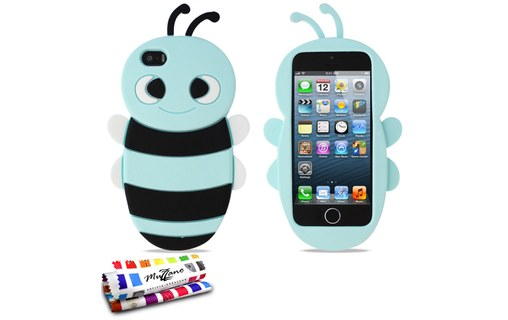 "Aperçu 0: Coque souple Bleu lagon ""Abeille"" APPLE IPHONE 5"