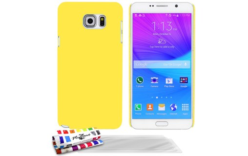 "Aperçu 0: Coque rigide ""Le Pearls"" Jaune + 3 Films SAMSUNG GALAXY NOTE 5"