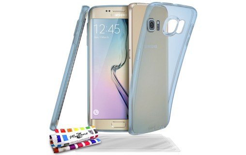"Aperçu 0: Coque + 3 Films SAMSUNG GALAXY S6 EDGE ""Aquarelle"" Bleu"