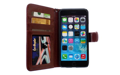 "Aperçu 2: Etui ""Folio"" APPLE IPHONE 6 PLUS Brun"