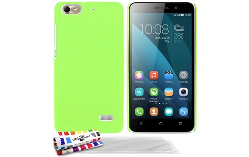 "Aperçu 0: Coque rigide ""Le Pearls"" Vert + 3 Films HUAWEI HONOR 4C"