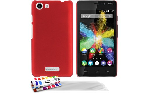 "Aperçu 0: Coque rigide ""Le Pearls"" Rouge + 3 Films WIKO BLOOM 2 (3G/ 4G)"