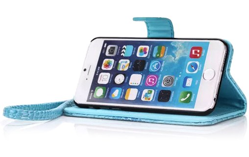 "Aperçu 3: Etui + 3 Films APPLE IPHONE 6 PLUS ""CroCoChic"" Bleu lagon"