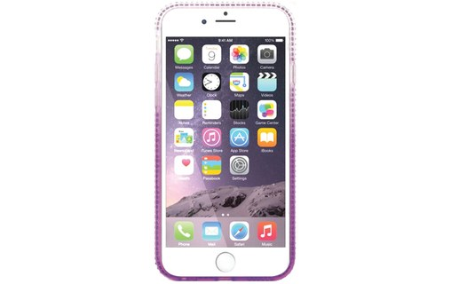 "Aperçu 1: Coque + 3 Films APPLE IPHONE 6 / 6S ""Diamonds"" Violet"